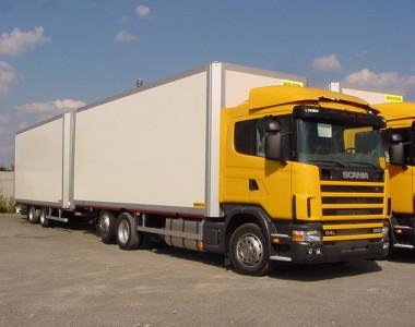 Изотермический фургонный прицеп с центральным расположением осей PC 16 FT PC 16 FB